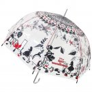 "Disney Alice in Wonderland Umbrella Clear plastic parasol 60cm 33.8""Japan FS NEW"