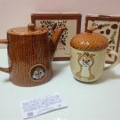 Disney store limited Chip & Dale Acorn Teapot & Mug Cup Set Free shipping NEW