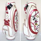 Rare! Disney Minnie Mouse Caddy Bag Golf bag case lady White Japan limited FSNEW