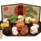Lucky Cat Zodiac Figurine Zodiac New Year Ornament Japan New item