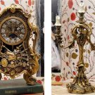 Limited 2000! Beauty And The Beast Cogsworth Clock & Lumiere light Be Our Guest