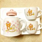 LAST stock! Rilakkuma 10 th.Anniversary Tea pot & 2 cup Set Pink Japan Coffee FS