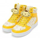 Yellow POMPOMPURIN character clip high-cut Sneaker M L size US 6, 7 Shoes F/SNEW