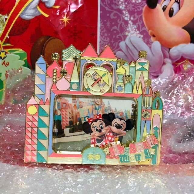 Tokyo Disneyland Fantasyland It's a Small World Photo Frame Stand Mickey Minnie