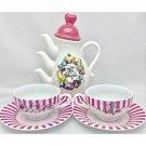 Tokyo Disneyland limited Alice in Wonderland Teapot & Tea Cup Set Japan