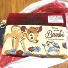 Disney x Harris Tweed Bambi pouch bag wallet case Japan Tweed on canvas FS