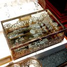 Tokyo Disney Resort Beauty and the Beast Glass Jewelry Box case Accessory case