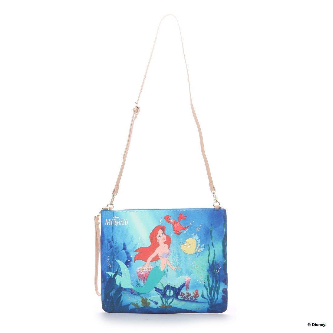 Disney Samantha Thavasa Little Mermaid Ariel 2 way Clutch bag shoulder lightblue