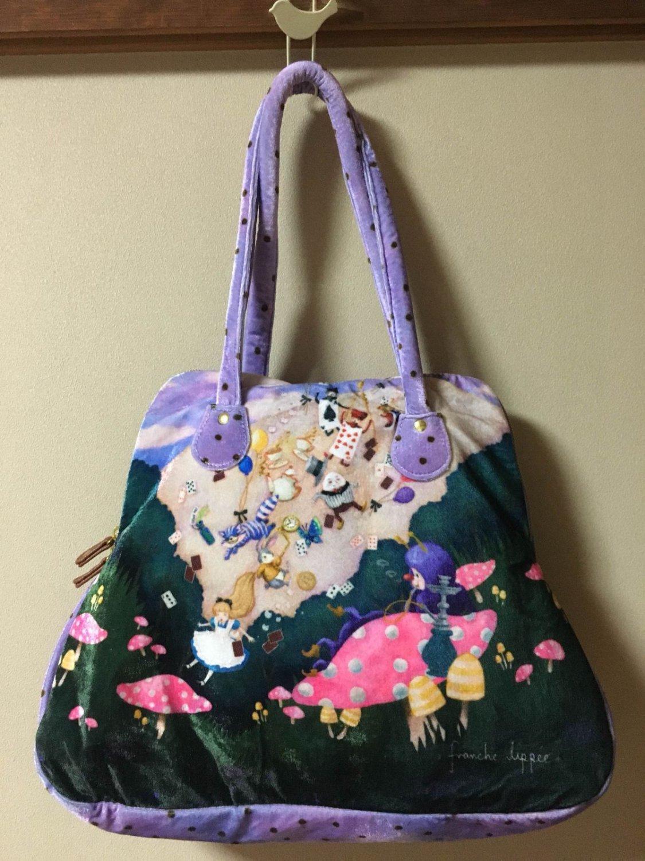 Franchelippee Alice in Wonderland Hand tote bag purple disney Polyester Japan