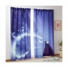 "Frozen Elsa flat Curtain Doorway polyester Blue Partition 135×200  78.7""x 53.1"""