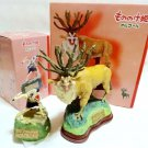 Ghibli Princess Mononoke + Shishi God Music Box SET! Polyester JAPAN figure F/S