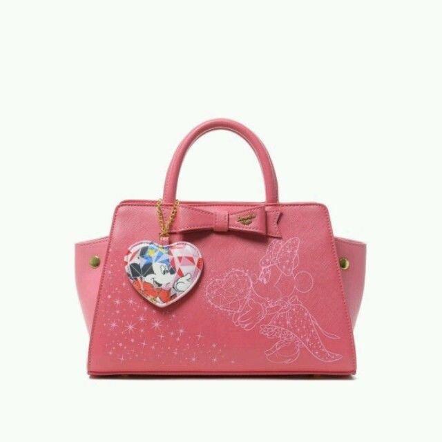 Disney x Samantha vega D23 Minnie front Ribbon bag 2 WAY Pink hand Shoulder bag
