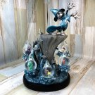 Mickey Mouse Fantasia Sorcerer Mickey Snow Glove Snow Dome Broom for Collector's