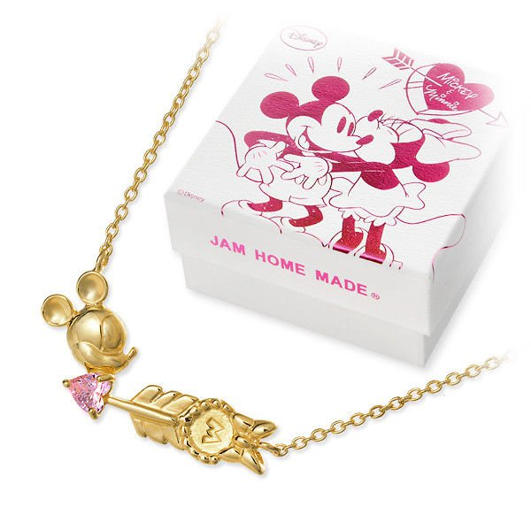 Disney � JAM HOME MADE Minnie Mouse SV925 Heart Arrow Necklace penadant Zirconia