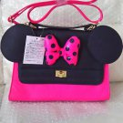 Tokyo Disneyland  Minnie mouse 2WAY pink Ribbon Shoulder Bag Hand Polka dot Ears