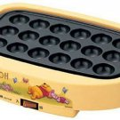 Disney × ZOJIRUSHI Winnie the Pooh Electric Takoyaki Maker EBFV 10P plate Yellow