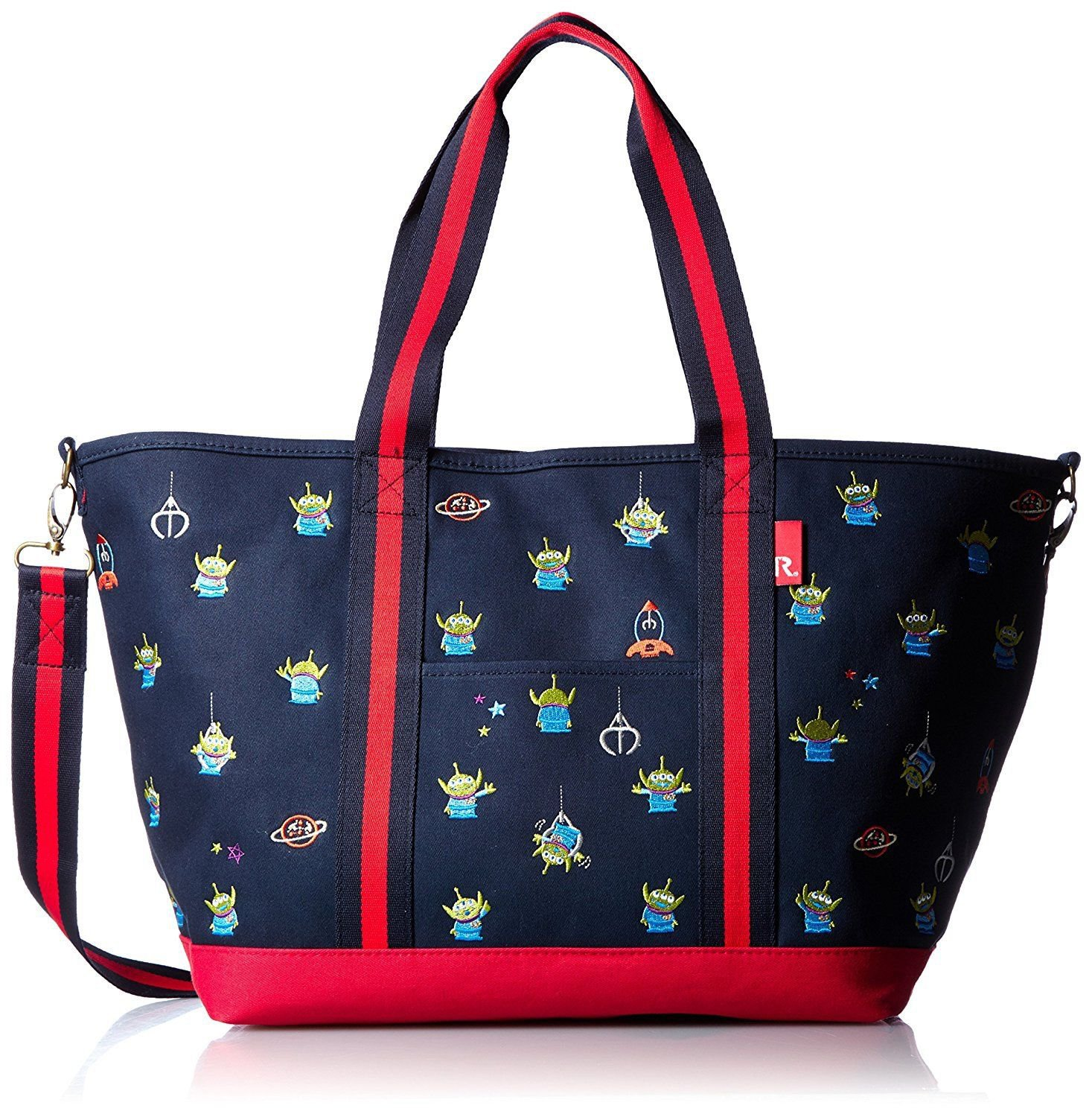 Disney Alien ROOTOTE Mammy ROO 2WAY shoulder hand bag with mini Pouch Dark blue