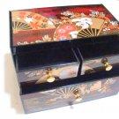 Maiko Geisha Petit Make up case Jewelry case box for Skin Care Kimono Chest NEW