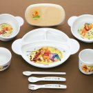 Disney Pooh Baby Combination Tableware set 3 years Milk cup Lunch dish Fork Bowl