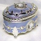 Frozen Elsa Swarovski Antimony Music Box Let It Go Oval style sky blue Sankyo