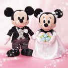 2013 Mickey & Minnie Mouse Plush Mascot Bridal Wedding Doll set figure FS Japan