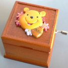 Disney Winnie the Pooh Wooden hand-crafted 18 valve music box from Japan Gift