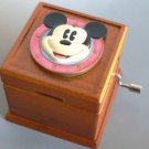 Disney Mickey Mouse Wooden hand-crafted 18 valve music box from Japan Gift