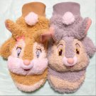 Tokyo Disney Resort limited Miss bunny & Thumper plush doll gloves Brown Gray