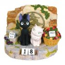 Kiki's Delivery Service Jiji Figure Perpetual Calendar Studio Ghibli Table NEW
