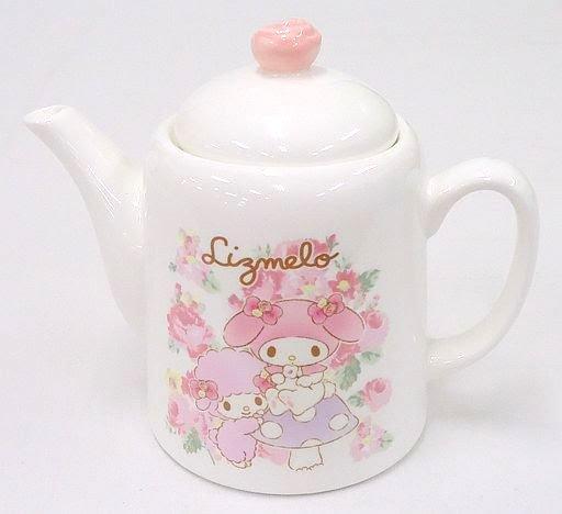 �LIZ LISA � My Melody Lizmelo Rose Teapot Kettle White pink Sanrio JAPAN �