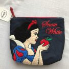 Princess Snow White Sagara embroidery Cosmetic pouch Case Accessory bag Darkblue
