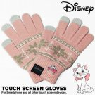 Disney The Aristocats Marie Women Smartphone compatible Gloves Free acrylic pink