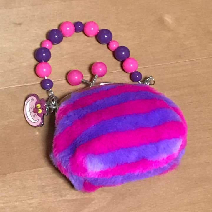 Tokyo Disneyland Cheshire cat Pouch Wallet purse Coin pouch Alice in Wonderland