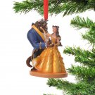 Disney Store Bell & Beast Christmas Tree Ornament Song music decorationfigure