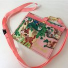 Disney Bambi ID Pass case Pink card holder with strap Japan FS