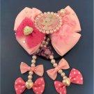 Disney Aristocat Marie pink ribbon Hair Rubber Hair clasp hair ornaments Japan