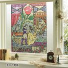 Disney Beauty and the Beast Stained Glass Window Decorative Sheet Glass Sticker