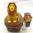 Rare! Disney Lion King 2 600 pieces Limited figure case with Wrist watch