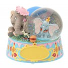Disney Store Japan 25th Anniversary Dumbo Snow Dome Snow Glove with Music Box