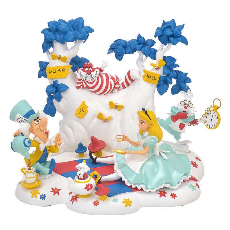 Disney Store Japan Figure Alice in Wonderland ALICE PARTY Ornament Catasha Cat