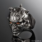 STAR WARS Mens Character Darth Mall Head Silver Ring Accessory Item