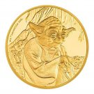 Stare Wars 2016 1000 Limited Starter Yoda Gold Coin 1/4 Ons Collecter