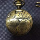 Tokyo  Disney Star Wars 3D pocket watch C3PO and R2D2 collecters boys  SEGA