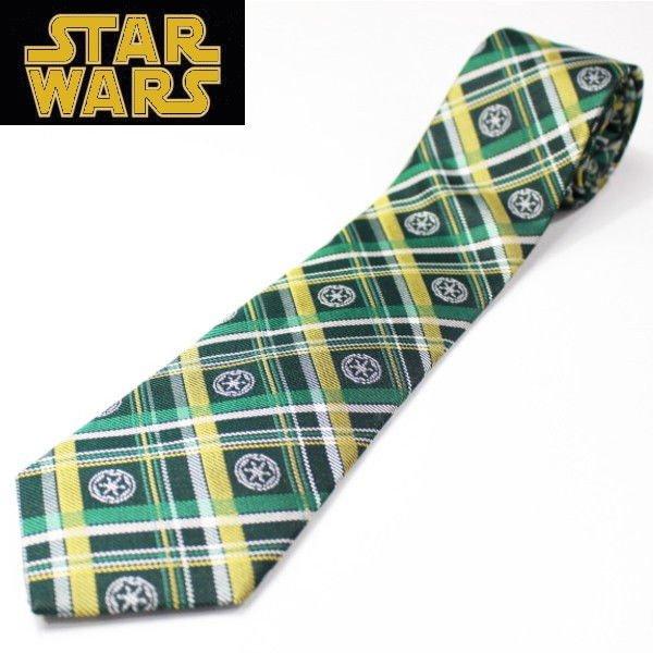Made in Japan Star Wars Imperial Army Madras Check Narrow Tie Silk 100% Tie