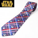 Made in Japan Star Wars Imperial Army Madras Check Vehicle / Scene Silk 100% Tie