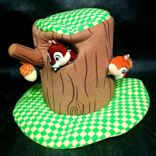 Rare! Tokyo Disneyland limited Chip & Dale Tree Hat cap Cosplay Event Halloween