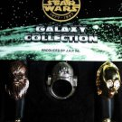 Tokyo Disney 1997 Star Wars JAP Ring Set Chewbacca C3PO R2D2 Limited Set