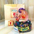 Disney Bear's Pooh snow glove snow globe HAPPY BIRTHDAY music box figure