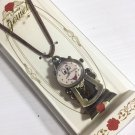 Disney Beauty and the Beast Cogsworth Pendant Watch Strap Watch Necklace