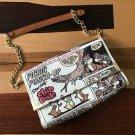 Tokyo Disney Chip & Dale Poster Art 2 Way Shoulder Bag Comic Hand Ladies Bages